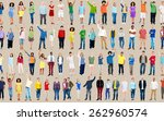 multiethnic casual people... | Shutterstock . vector #262960574