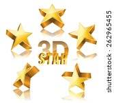 3d golden star set with... | Shutterstock .eps vector #262965455