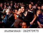 barcelona   mar 18  a couple... | Shutterstock . vector #262973975