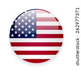 round glossy vector icon with... | Shutterstock .eps vector #262977371
