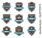 set of 9 vintage badges.... | Shutterstock .eps vector #262979975