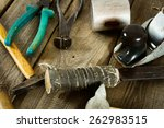 the old working tool. many old... | Shutterstock . vector #262983515