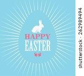 bright blue easter design for... | Shutterstock .eps vector #262989494