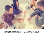 young group of people... | Shutterstock . vector #262997165