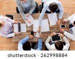 business  people and team work... | Shutterstock . vector #262998884