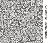 seamless vintage fashion lace... | Shutterstock .eps vector #263005397