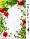 Fresh Vegetables On The White...