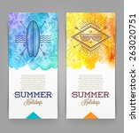 summer holidays and travel...   Shutterstock .eps vector #263020751