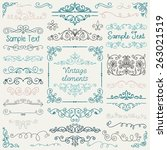 decorative vintage colorful... | Shutterstock .eps vector #263021519