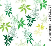 green branches pattern | Shutterstock .eps vector #263021717