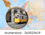 looking in on lisbon  portugal... | Shutterstock . vector #263023619