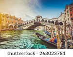 Panoramic View Of Famous Canal...