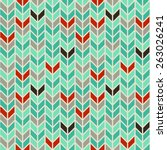 seamless  pattern.  turquoise ... | Shutterstock .eps vector #263026241