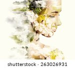 Double Exposure Portrait Of...