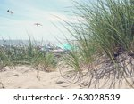 Beach Scene On A Summer Day. ...