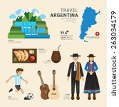 travel concept argentina... | Shutterstock .eps vector #263034179