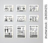 newspaper daily flat vector set ... | Shutterstock .eps vector #263034251