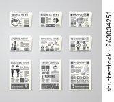 newspaper daily flat vector set ... | Shutterstock .eps vector #263034251