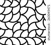 modern stylish pattern of mesh. ... | Shutterstock .eps vector #263045471