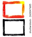 watercolor frame vector... | Shutterstock .eps vector #263047685