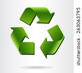recycle symbol or sign of... | Shutterstock .eps vector #263063795