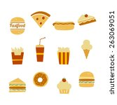 fastfood restaurant theme icon | Shutterstock .eps vector #263069051