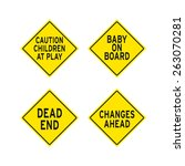 traffic signs | Shutterstock .eps vector #263070281