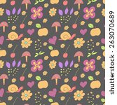 seamless pattern with painted...   Shutterstock .eps vector #263070689