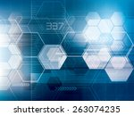 abstract background technology... | Shutterstock .eps vector #263074235
