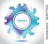 abstract factory emblem  ... | Shutterstock .eps vector #263077031
