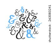 set of decorative ampersands.... | Shutterstock .eps vector #263083241