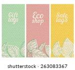 vector paper textured banners... | Shutterstock .eps vector #263083367
