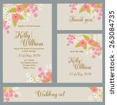wedding invitation  thank you... | Shutterstock .eps vector #263084735