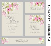 wedding invitation  thank you... | Shutterstock .eps vector #263084741