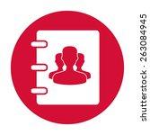 notebook  address  phone book... | Shutterstock .eps vector #263084945