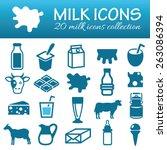 milk icons | Shutterstock .eps vector #263086394