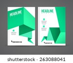 vector flyer design template... | Shutterstock .eps vector #263088041