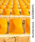stadium yellow chairs at sun... | Shutterstock . vector #263088491