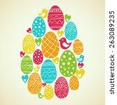 vector linocut illustration for ... | Shutterstock .eps vector #263089235
