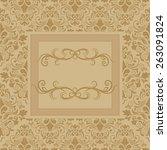 template frame design for... | Shutterstock .eps vector #263091824
