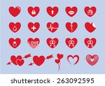set of hearts | Shutterstock .eps vector #263092595