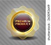 premium product golden badge | Shutterstock .eps vector #263092649
