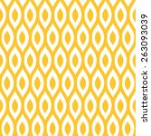seamless yellow enhanced ikat... | Shutterstock .eps vector #263093039