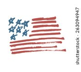 American Flag Illustration....