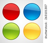 web buttons set | Shutterstock .eps vector #263101307