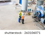 industrial team of worker and... | Shutterstock . vector #263106071