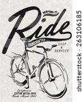 retro illustration bicycle | Shutterstock .eps vector #263106185