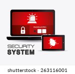 security system design over... | Shutterstock .eps vector #263116001