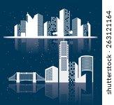 City design over blue background, vector illustration.