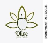 olive oil design over white... | Shutterstock .eps vector #263122031